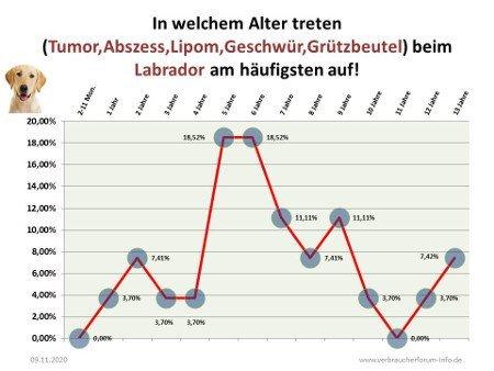 Statistik Tumore beim Labrador